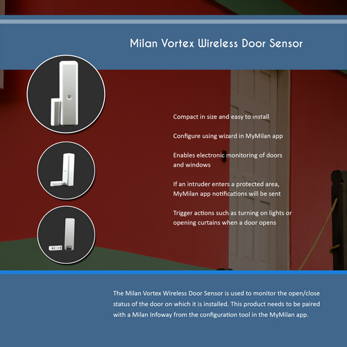 Milan Vortex Wireless Door Sensor