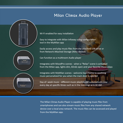 Milan Climax Audio Player